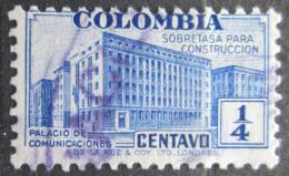 Poštovní známka Kolumbie 1940 Budova pošty, daòová Mi# 8