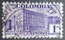 Poštovní známka Kolumbie 1940 Budova pošty, daòová Mi# 10