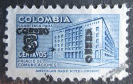 Poštovní známka Kolumbie 1953 Budova pošty v Bogotì pøetisk Mi# 652