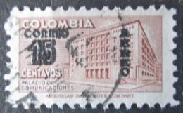 Poštovní známka Kolumbie 1953 Budova pošty v Bogotì pøetisk Mi# 653