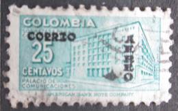 Poštovní známka Kolumbie 1953 Budova pošty v Bogotì pøetisk Mi# 655