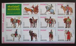 Poštovní známky Manáma 1972 Vojenské uniformy Mi# 1019-29 Kat 15€