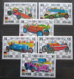 Poštovní známky Adžmán 1971 Nìmecká závodní auta Mi# 1117-22