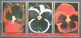 Poštovní známky Adžmán 1972 Kvìtiny Mi# 2130-32 Kat 3.50€