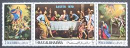Poštovní známky Rás al-Chajma 1970 Velikonoce, umìní Mi# 361-63 Kat 8€