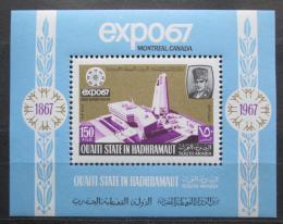 Poštovní známka Aden Qu´aiti 1967 Výstava EXPO Montreal Mi# Block 13 A Kat 12€