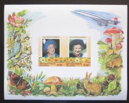 Poštovní známky Britské panenské ostrovy 1985 Královna Matka Mi# Block 24