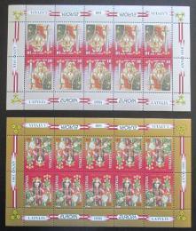 Poštovní známky Lotyšsko 1995 Evropa CEPT Mi# 414-15 Bogen Kat 40€