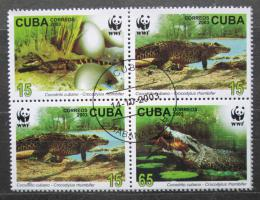 Poštovní známky Kuba 2003 Krokodýli, WWF Mi# 4553-56