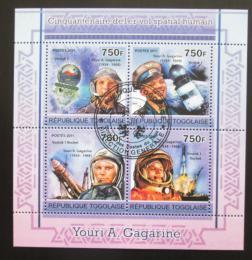 Poštovní známky Togo 2011 Jurij Gagarin Mi# 3949-52 Kat 12€