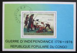 Poštovní známka Kongo 1976 Americká revoluce, 200. výroèí Mi# Block 10