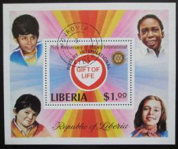 Poštovní známka Libérie 1978 Rotary Intl., 75. výroèí Mi# Block 94 A