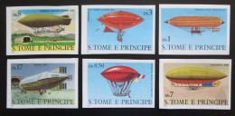 Poštovní známky Svatý Tomáš 1979 Vzducholodì neperf. Mi# 626-31 B Kat 24€