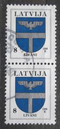 Poštovní známky Lotyšsko 1996 Znak Livani pár Mi# 399 II