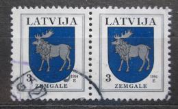 Poštovní známky Lotyšsko 1994 Znak Zemgale pár Mi# 372 A I