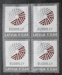 Poštovní známky Lotyšsko 2015 Prezidentství v Radì Evropy ètyøblok Mi# 928