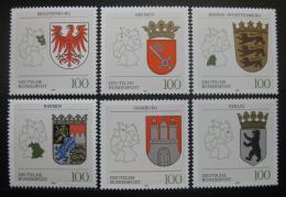 Poštovní známky Nìmecko 1992 Znaky republik Mi# 1586-91 Kat 12€