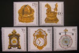 Poštovní známky Nìmecko 1992 Staré hodiny Mi# 1631-35 Kat 10€