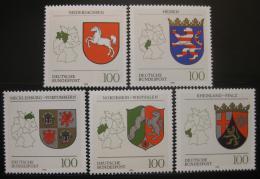 Poštovní známky Nìmecko 1993 Znaky spolkových zemí Mi# 1660-64 Kat 8€