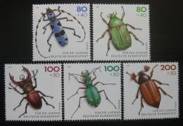 Poštovní známky Nìmecko 1993 Ohrožení brouci Mi# 1666-70 Kat 12€
