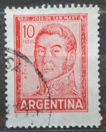 Poštovní známka Argentina 1966 Generál Jose de San Martín Mi# 868