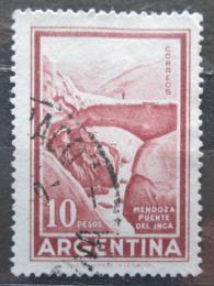 Poštovní známka Argentina 1960 Most Inkù Mendoza Mi# 704