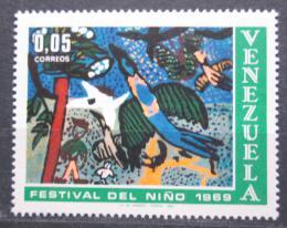 Poštovní známka Venezuela 1969 Dìtská kresba Mi# 1814