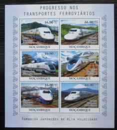 Poštovní známky Mosambik 2010 Moderní lokomotivy Mi# 4192-97 Kat 14€