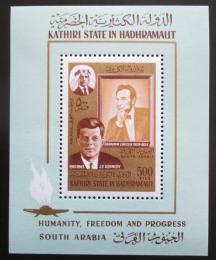 Poštovní známka Aden Kathiri 1967 John F. Kennedy Mi# Block 14 Kat 12€
