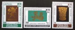 Poštovní známky Aden Kathiri 1968 Umìní zlatníkù Mi# 220-22 Kat 12€