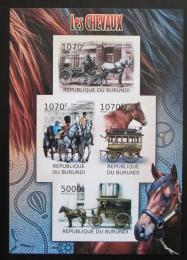 Poštovní známky Burundi 2012 Dostavníky neperf. Mi# 2401-04 B