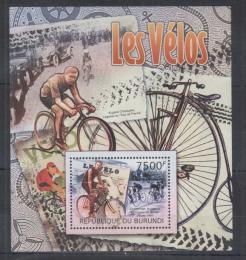 Poštovní známka Burundi 2012 Cyklistika Mi# Block 225 Kat 9€