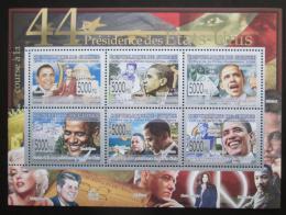 Poštovní známky Guinea 2008 Prezident Barack Obama Mi# 6034-39 Kat 12€