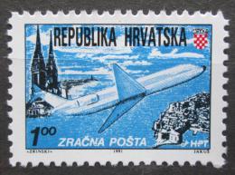 Poštovní známka Chorvatsko 1991 Letadlo Mi# 179