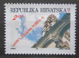 Poštovní známka Chorvatsko 1991 Letištì Záhøeb-Split Mi# 180