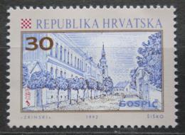 Poštovní známka Chorvatsko 1992 Ulice v Gospièi Mi# 198