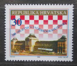 Poštovní známka Chorvatsko 1992 Hlavní nádraží v Záhøebu Mi# 200