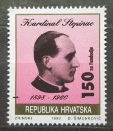 Poštovní známka Chorvatsko 1993 Kardinál Stepinac, daòová Mi# 28