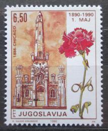 Poštovní známka Jugoslávie 1990 Den práce, 100. výroèí Mi# 2416