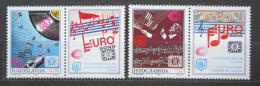Poštovní známky Jugoslávie 1990 Eurovize Záhøeb Mi# 2417-18