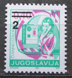 Poštovní známka Jugoslávie 1990 Poštovní úøednice pøetisk Mi# 2442
