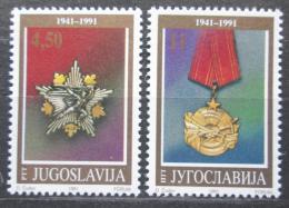 Poštovní známky Jugoslávie 1991 Vyznamenání Mi# 2486-87