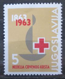 Poštovní známka Jugoslávie 1963 Èervený køíž, daòová Mi# 29