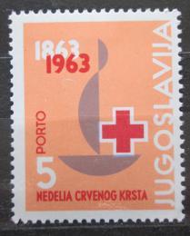 Poštovní známka Jugoslávie 1963 Èervený køíž, daòová doplatní Mi# 25