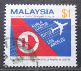 Poštovní známka Malajsie 1986 Letadlo Mi# 343 Kat 5.50€