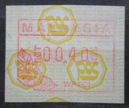 Poštovní známka Malajsie 1987 Známka z automatu ATM Mi# 1