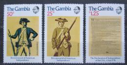 Poštovní známky Gambie 1976 Americká revoluce, 200. výroèí Mi# 326-28