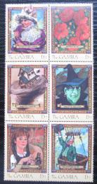 Poštovní známky Gambie 2001 Èarodìj ze zemì Oz Mi# 4170-75 Kat 11€