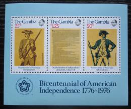 Poštovní známky Gambie 1976 Americká revoluce, 200. výroèí Mi# Block 1