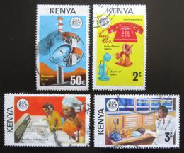 Poštovní známky Keòa 1976 Rozvoj telekomunikace Mi# 54-57